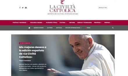 Папа Франциск поздравил иезуитов с возобновлением испанской версии La Civilta' Cattolica